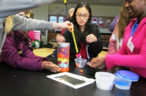 Hands on experience for Middle School girls interesting Science, Technology, Engineering and Math