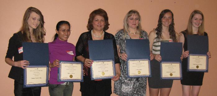 From left to right, they were Amanda Collins, Myra Ebdalin, Maria Roncal, Holly Gallardo, Brooke Sauerwald, and Meagan Phlegar. Congratulations ladies!